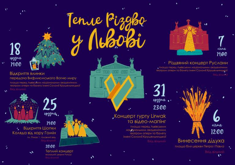 e92305c5a48d31 Тепле Різдво у Львові: святкова програма | Афіша розваг Львова