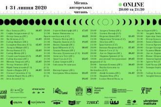 Місяць авторських читань 2020