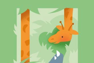 Жирафа і Носоріг