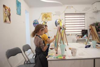постер Дитячі майстер клас з малювання