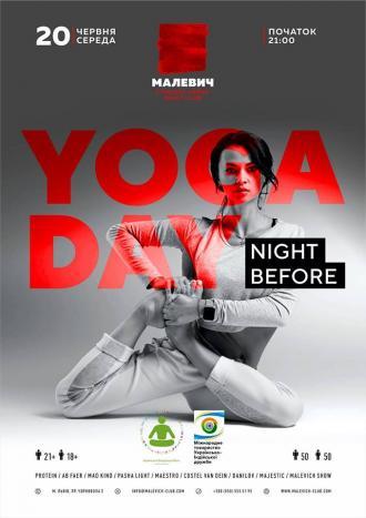 постер Night Before Yoga Day