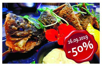 фото Тільки 26 вересня -50% на всі страви з живої риби!